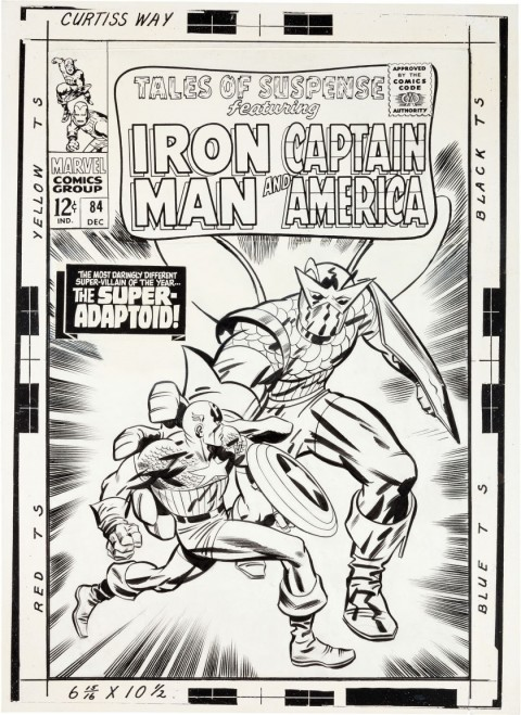 Tales Of Suspense issue 84 cover by Jack Kirby and Frank Giacoia