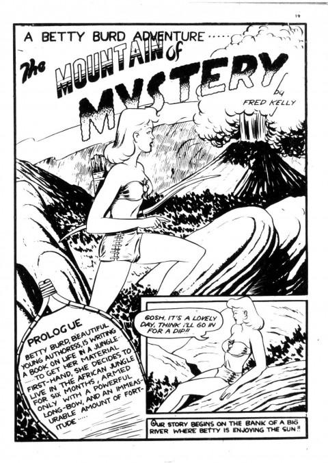 Fred Kelly's Betty Burd splash from Dime Comics No. 28