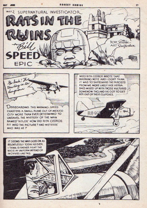 From Rocket Comics Vol. 5 No. 10 inked by Shirley Fortune