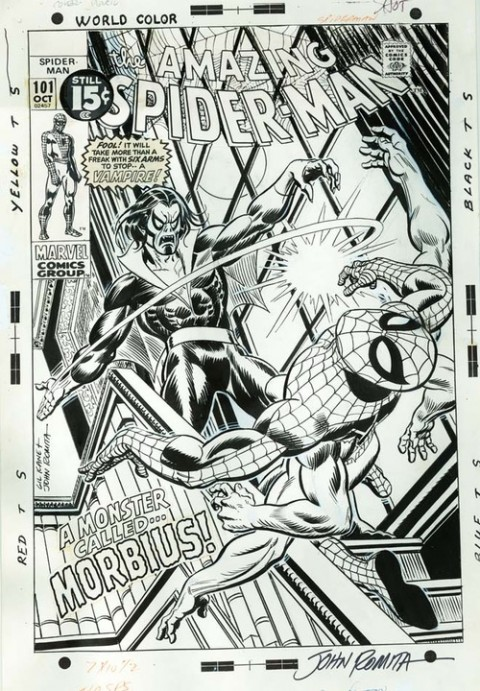 Amazing Spider-Man issue 101 cover by John Romita