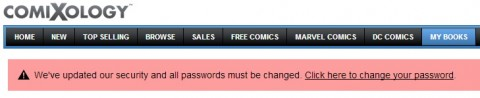 Comixology Password Prompt