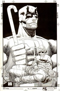 Daredevil The Man Without Fear issue 1 cover by John Romita Jr and Al Williamson