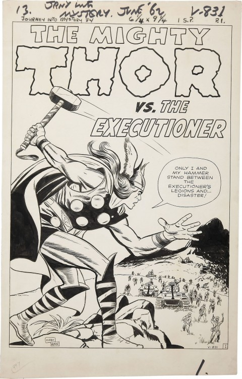 Journey Into Mystery issue 84 splash by Jack Kirby and Dick Ayers. Source.