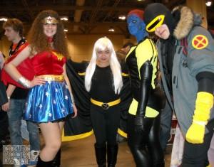 Wonder Woman, Storm, Mystique and Cyclops