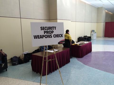 Toronto Comicon 2014 Weapons Check