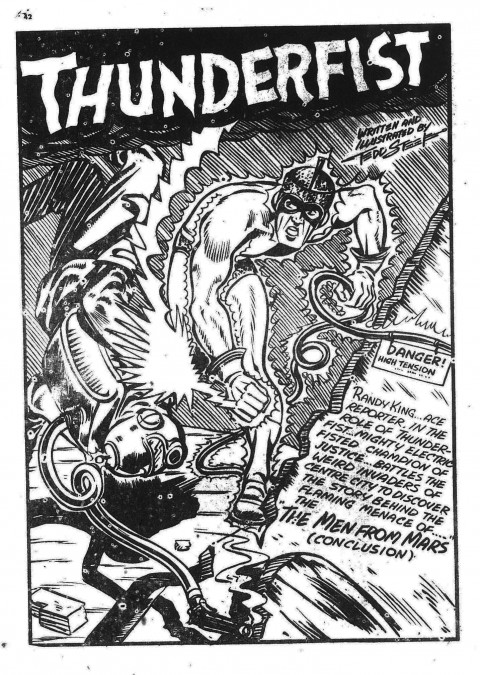 Tedd Steele splash from the last appearance of Thunderfist in Active 26