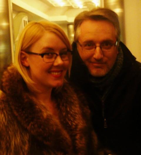 Nelvana revivalist Hope Nicholson with comic Renaissance Man Robert Pincombe