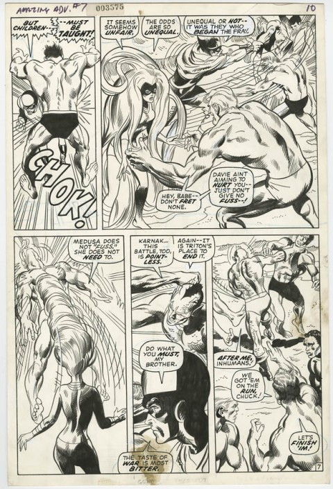 Amazing Adventures issue 7 page 7 by Neal Adams.  Source.