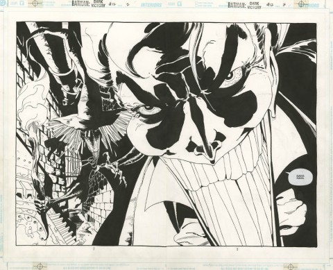 Batman: Dark Victory issue 12 double splash by Tim Sale.  Source.