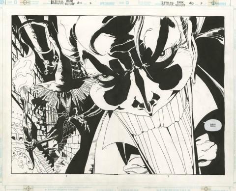 Batman: Dark Victory issue 12 double splash by Tim Sale.  Source.