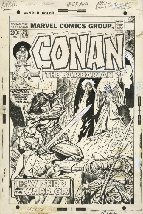 Conan issue 29 cover by Gil Kane and Ernie Chan.  Source.