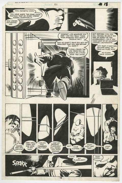Daredevil issue 171 page 18 by Frank Miller and Klaus Janson.  Source.