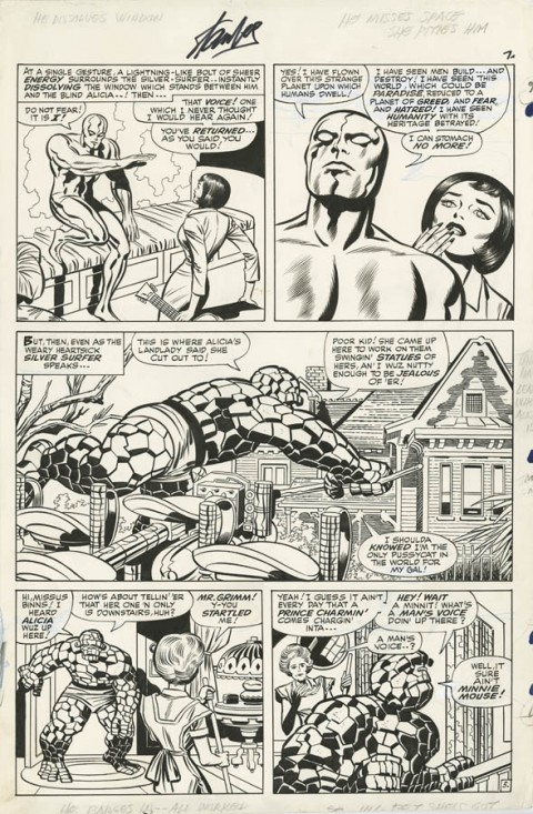 Fantastic Four issue 55 page 7 by Jack Kirby and Joe Sinnott.  Source.