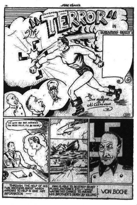 The Terror splash page from Joke Comics No. 5
