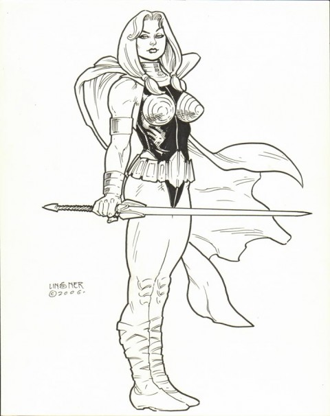 Valkyrie by Joseph Michael Linsner.  Source.