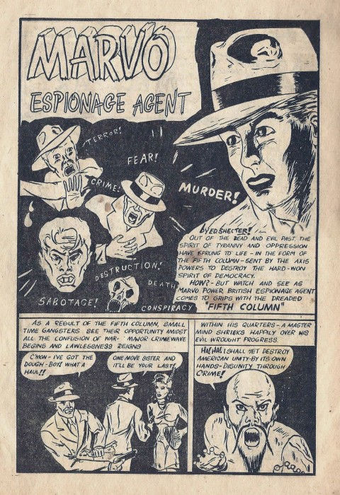 "Ed Shecter's ""Marvo, Espionage Agent"" from Weekender Vol. 1 No. 2"