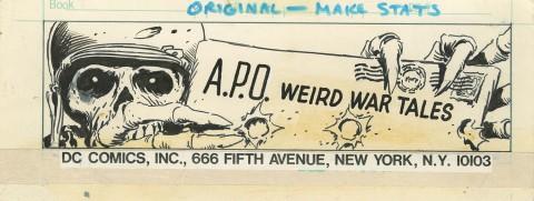 Weird War Tales letter page art by Joe Kubert.  Source.