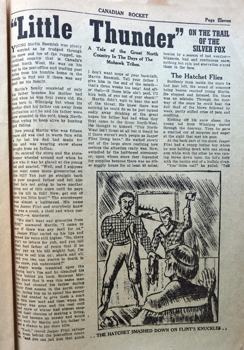 "First page of the ""Little Thunder"" Story"