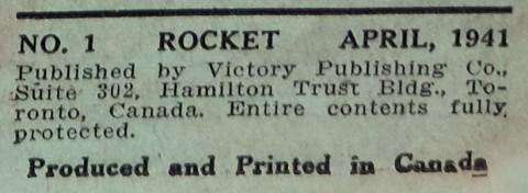 Canadian Rocket indicia