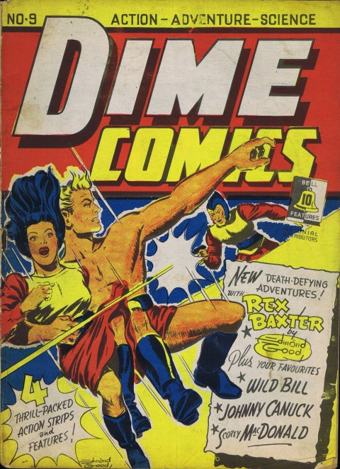 Edmond Good cover for Dime Comics 9