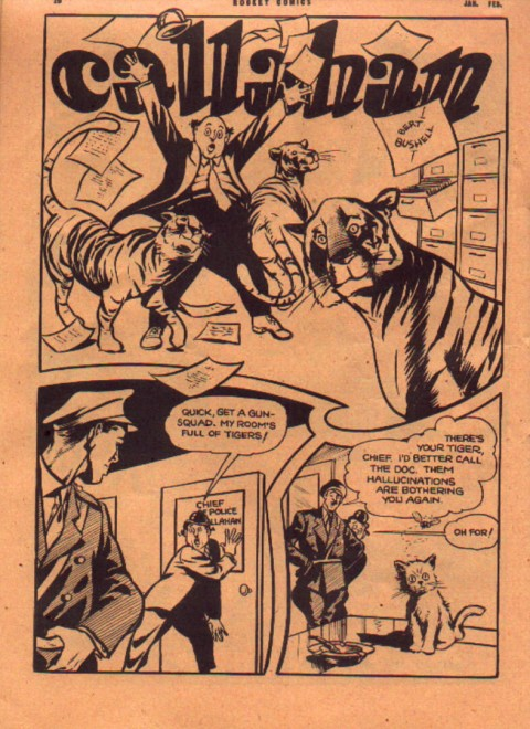 Bert Bushell's Callahan from Rocket Comics Vol. 3 No. 2