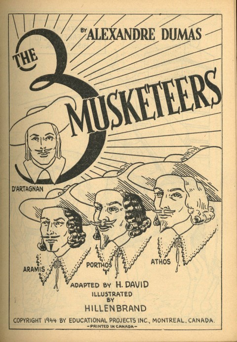 The paintbook version of the Three Muskateers.