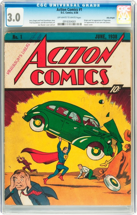 Action Comics issue 1 CGC 30