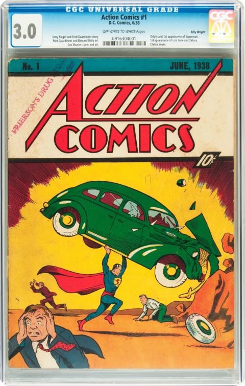 Action Comics issue 1 CGC 30