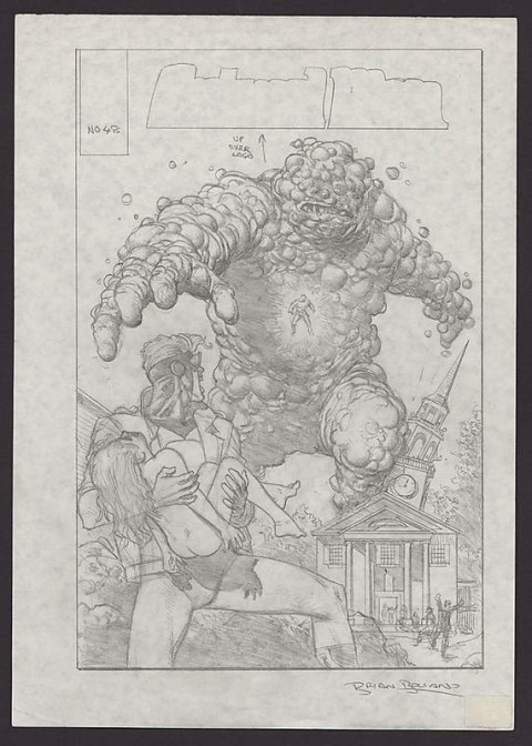 Animal Man issue 48 prelim by Brian Bolland.  Source.