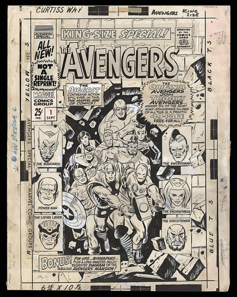 Avengers Annual issue 1 cover by Don Heck and George Roussos.  Source.