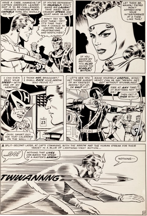 Avengers issue 20 page 10 by Don Heck and Wally Wood.  Source.