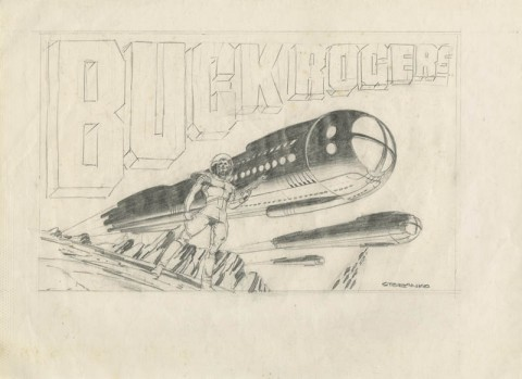 Buck Rogers preliminary by Jim Steranko.  Source.