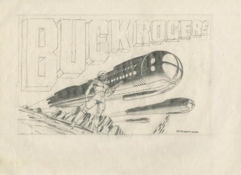 Buck Rogers preliminary by Jim Steranko.  Source.