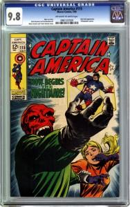 Captain America 115 CGC 9-8