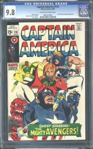 Captain America 116 CGC 9-8