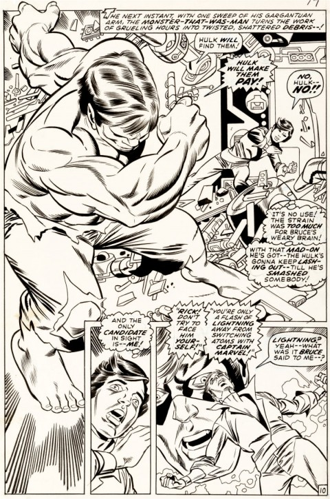 Captain Marvel issue 21 page 10 by Gil Kane and Dan Adkins.  Source.