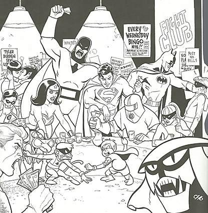 Fight Club by Frank Cho.  Source.
