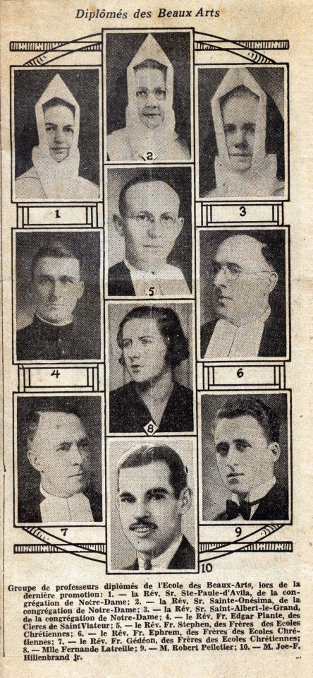 Graduation announcement from La Presse on Friday, Feb. 7, 1936