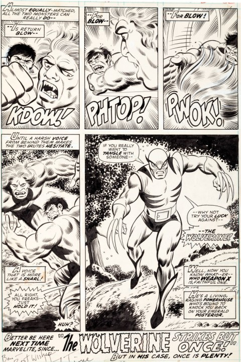 Incredible Hulk issue 180 page 32 by Herb Trimpe and Jack Abel.  Source.