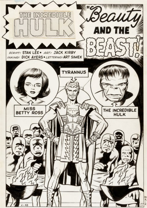 Incredible Hulk issue 5 splash by Jack Kirby and Dick Ayers.  Source.