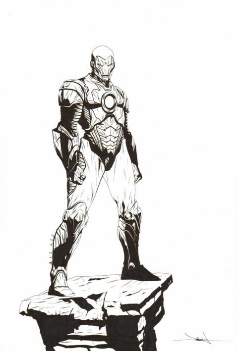 Iron Man by Jae Lee.  Source.