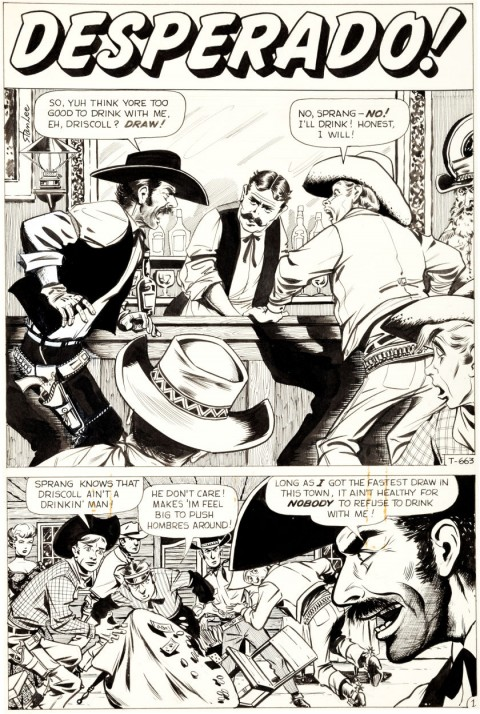 Kid Colt Outlaw issue 90 page 1 by Bill Everett.  Source.
