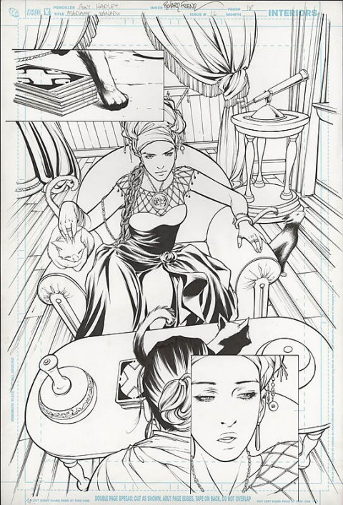 Madame Xanadu issue 16 splash by Amy Hadley and Richard Friend.  Source.