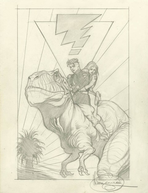 Madman X50 Trading Card preliminary by Mark Schultz.  Source.