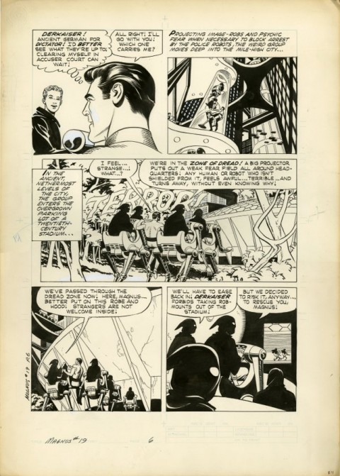 Magnus, Robot Fighter issue 19 page 6 by Russ Manning.  Source.