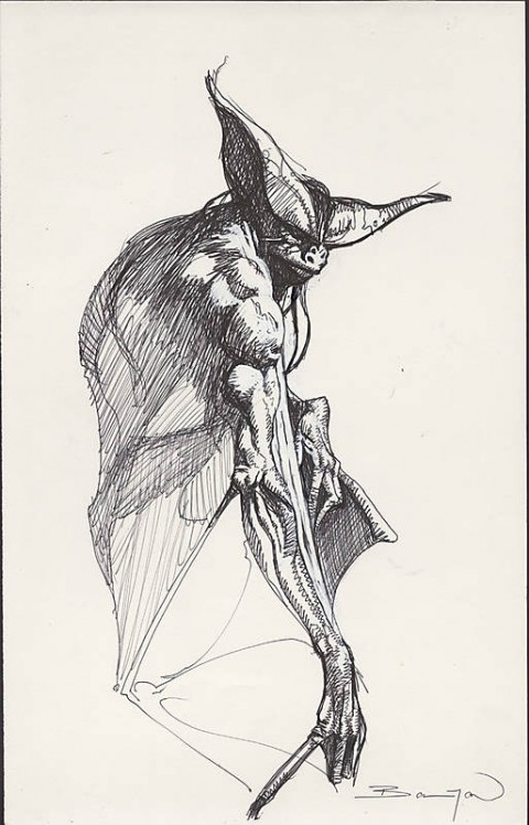 Man-Bat by John Bolton.  Source.