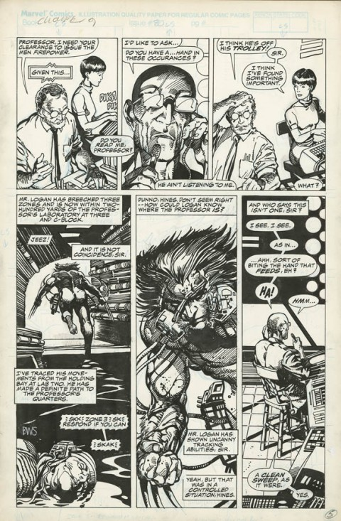 Marvel Comics Presents issue 80 page 5 by Barry Windsor-Smith.  Source.
