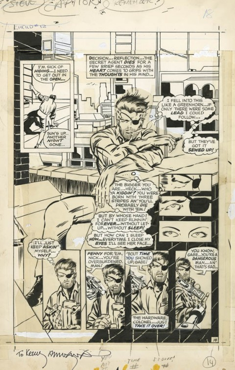 Nick Fury, Agent of S.H.I.E.L.D. issue 12 page 14 by Barry Windsor-Smith.  Source.
