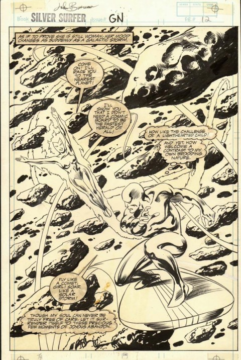 Silver Surfer Judgement Day page 14 by John Buscema.  Source.