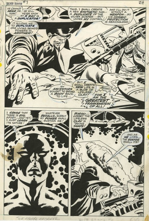 Silver Surfer issue 7 page 20 by John Buscema and Sal Buscema.  Source.